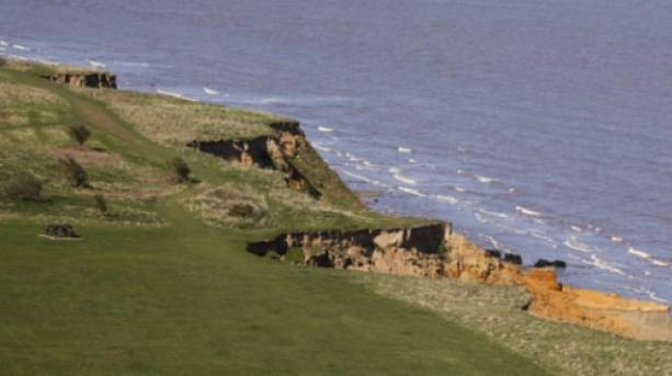 The cliffs at the Naze