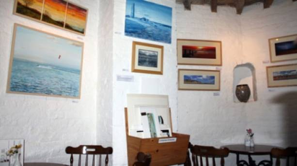 Interior shot of the Naze Tower and the gallery.