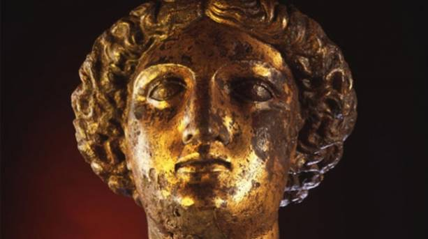 A statute at The Roman Baths