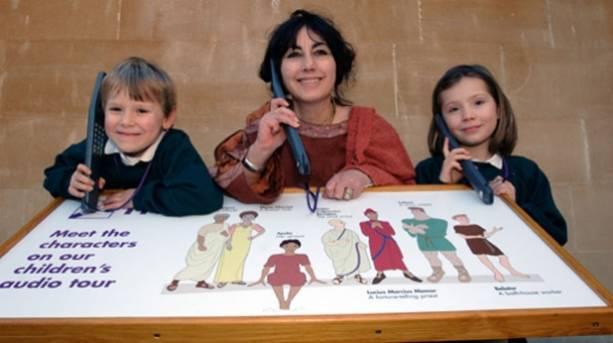 Children using audio guides
