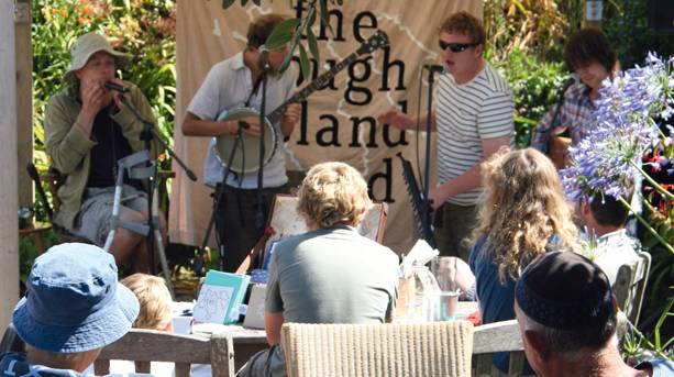The Rough Island Band performing at the New Inn, Tresco