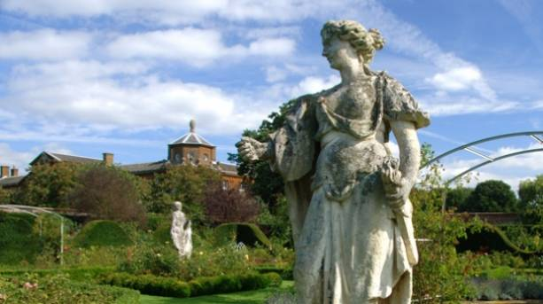 Statues in the garden of Houghton Hall
