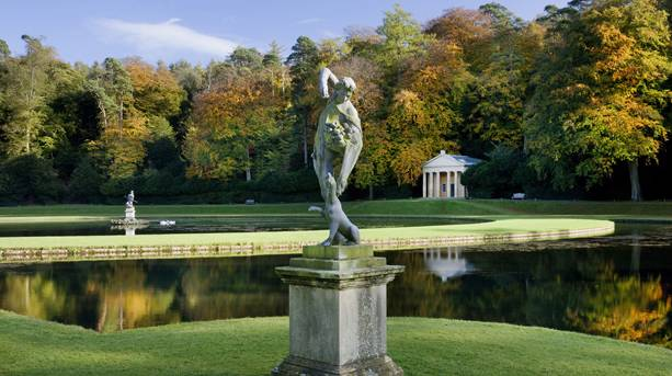 Statues in Studley Royal Water Garden