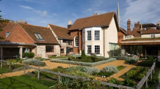 The garden at Tudor House and Garden, Southampton, Hampshire