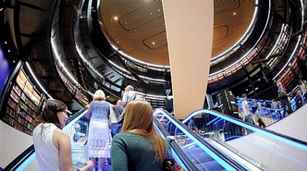 Inside the Library of Birmingham