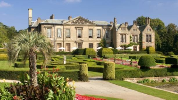 The view of Coombe Abbey's West Terrace