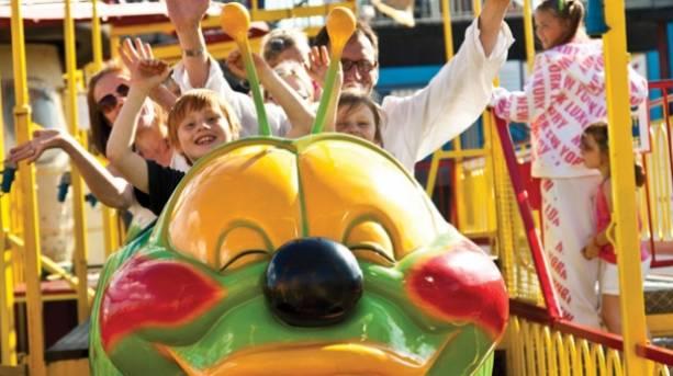 Enjoying funfair fun on a theme park break in Skegness