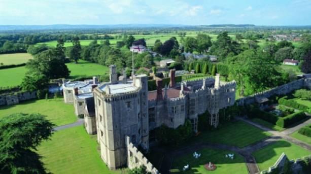 Aerial view of Thornbury Castle