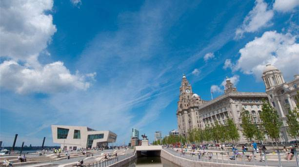 Liverpool's iconic waterfront and the Three Graces
