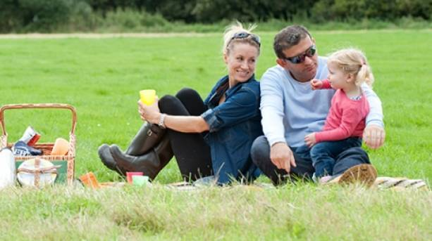 Relax in the green with a picnic