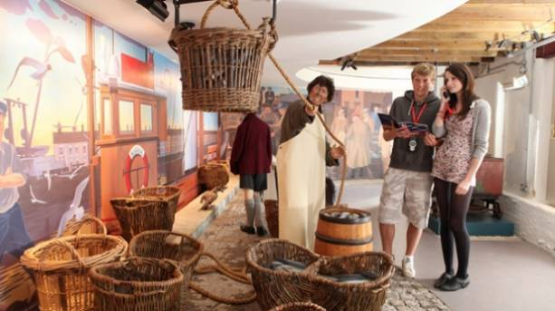 A couple visiting the Time and Tide Museum of Great Yarmouth Life
