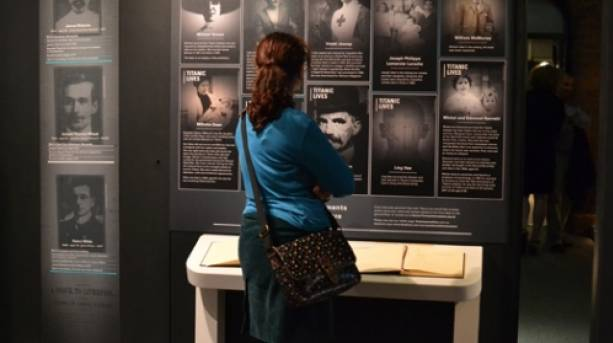 A lady at the Titanic & Liverpool: the untold story exhibition