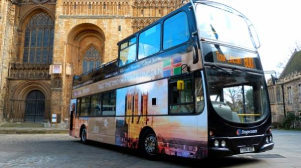Lincoln's open-top sightseeing bus