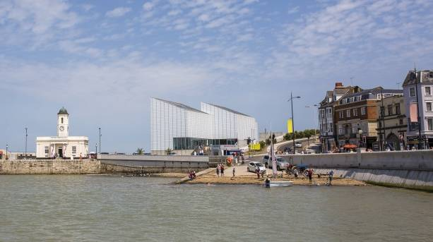 Looking across to Turner Contemporary from Margate steps