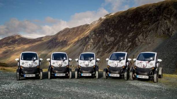 The Twizys at Honister Pass