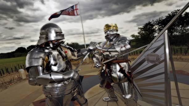 Knights at Bosworth Battlefield