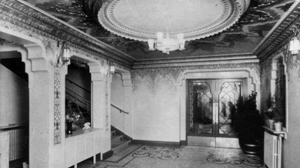 The original Newcastle News Theatre Foyer in 1937