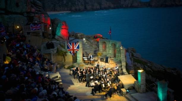 A performance at the Minack Theatre