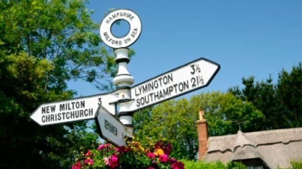 A signpost for Lymington © VisitEngland