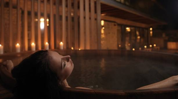 Relaxing at the Verbena Spa, Feversham Arms in Helmlsey