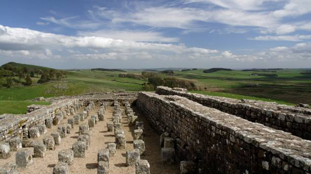View of Tyne Valley from Housesteads Roman Fort, Hadrian's Wall
