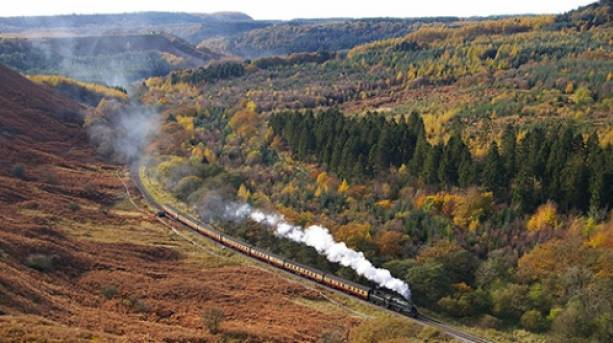View of the North Yorkshire Moors Railway