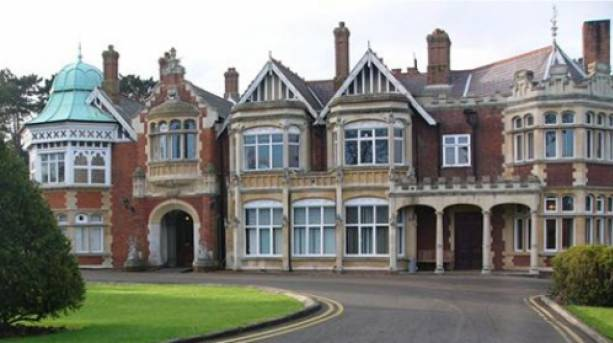 View towards the front of Bletchley Park, Buckinghamshire