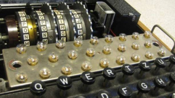 Enigma machine at Bletchley Park, Buckinghamshire