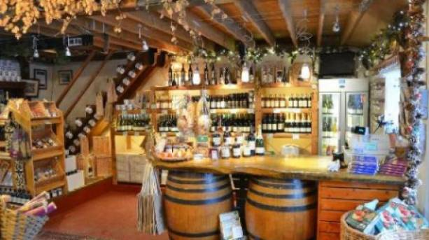 View inside the shop at Chiltern Valley Winery and Brewery, Buckinghamshire