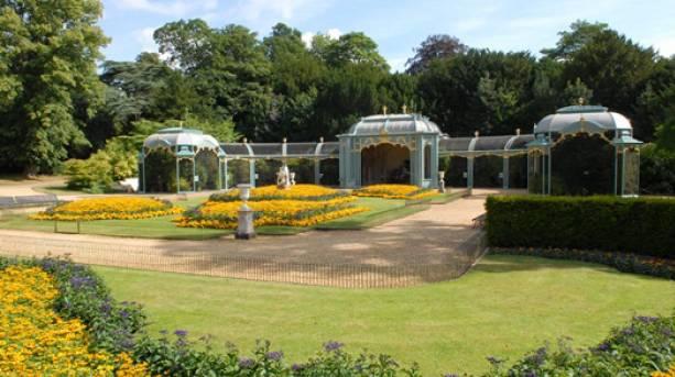 View of the gardens at Waddesdon Manor, Buckinghamshire