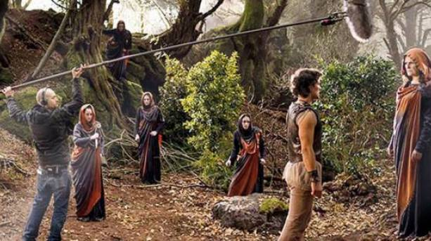 BBC TV show Atlantis being filmed at Puzzlewood
