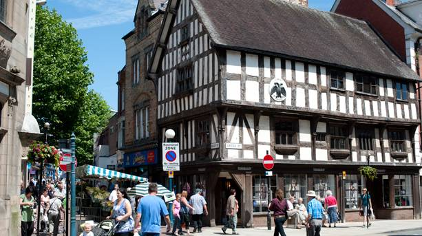 The market town of Oswestry on the Welsh border