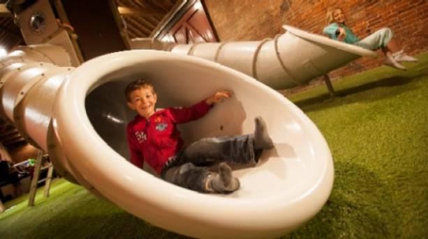 Having fun in the Playbarn at Staunton