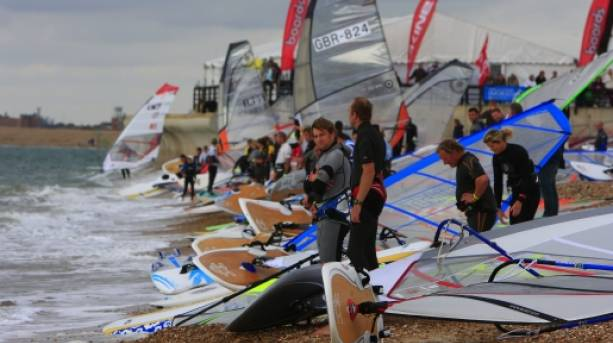 Windsurfers at the National Watersports Festival
