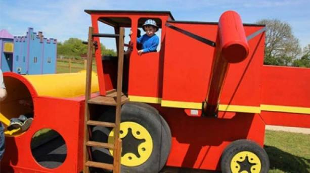 Jump on board a giant combine harvester