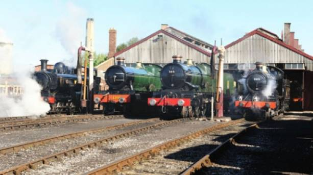 Visit the Didcot Railway Centre when you reach Didcot and see locomotives outside the engine shed