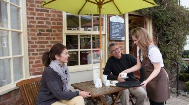 Relax from your walk with an afternoon tea from a traditional village café.