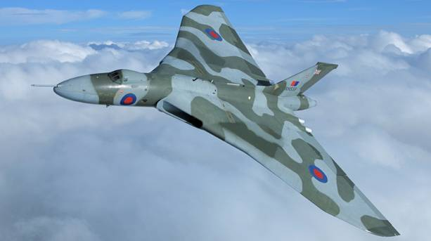 The Vulcan's delta wing shape makes her instantly recognisable