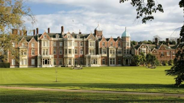 The West Front of the regal Sandringham House