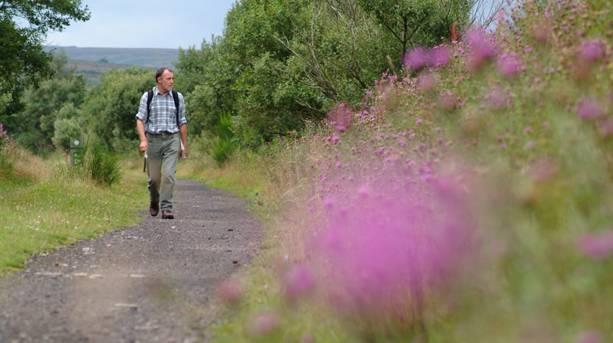 Walker on the Trans Pennine Trail