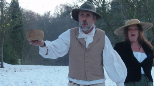 Wassailing at Gilbert White's House in Selborne