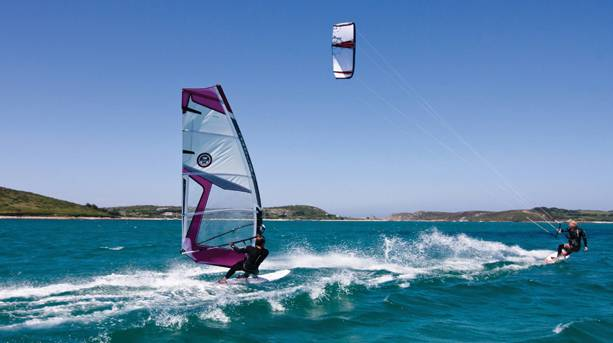 Windsurfing and kitesurfing on the Isles of Scilly