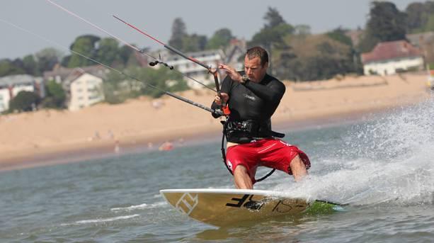Kite Surfing local rider Ben Hasselman in Exmouth