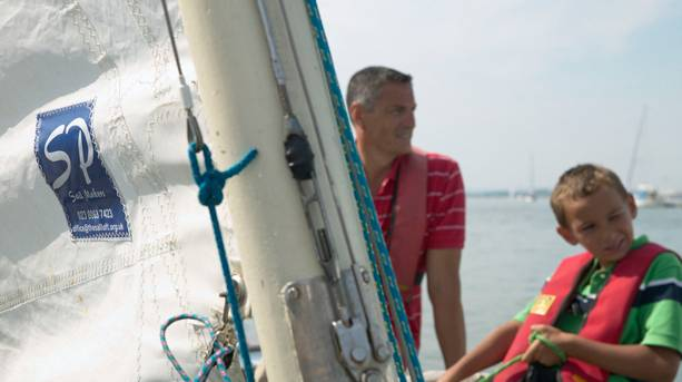 A family sailing in Hampshire