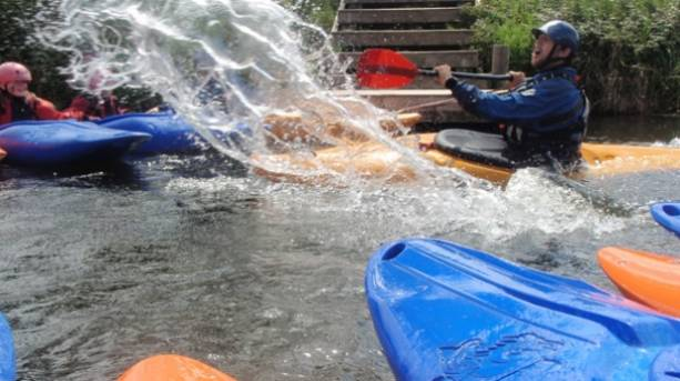 Canoeing at Mendip Outdoor Pursuits