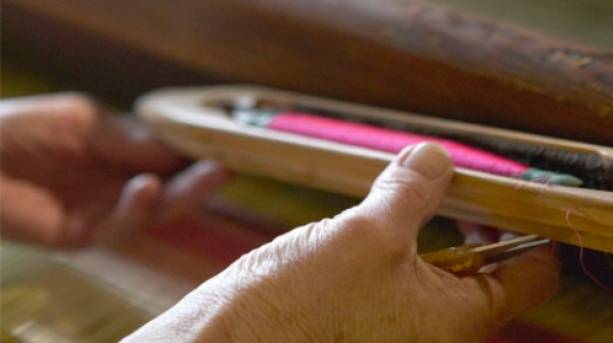 Weaving at Whitchurch Silk Mill, Whitchurch, Hampshire