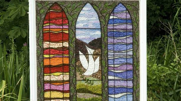 A Well Dressing on display