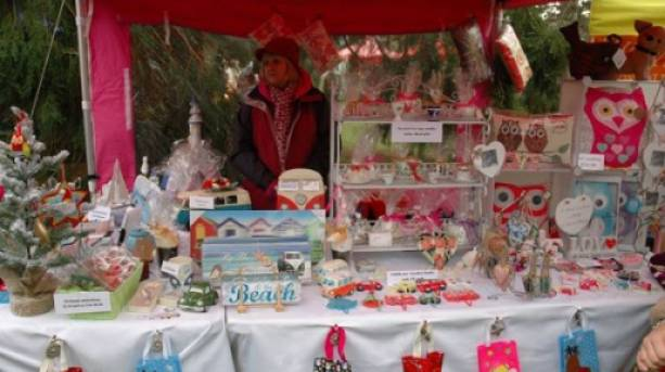 Stalls at the Much Wenlock Christmas Fayre