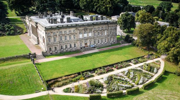 Ariel view of Wentworth Castle Gardens