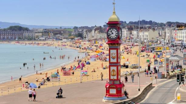 Weymouth's seafront and Jubilee Clock